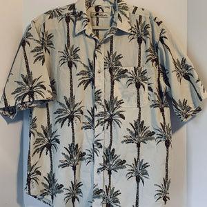 Joe Marlin Men's Hawaiian Shirt Palm Trees Sz 2XL